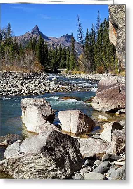 Pilots Peak And Clark Fork 2 Greeting Card by Shirley Mitchell