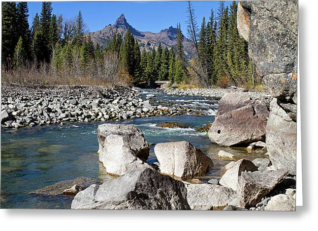 Pilots Peak And Clark Fork 3 Greeting Card by Shirley Mitchell