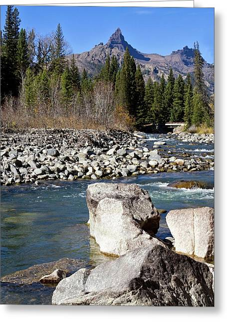 Pilots Peak And Clark Fork 4 Greeting Card by Shirley Mitchell