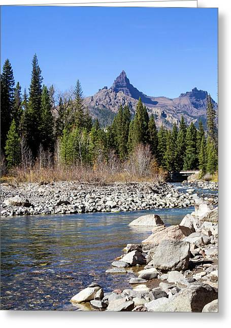 Pilots Peak And Clark Fork 5 Greeting Card by Shirley Mitchell