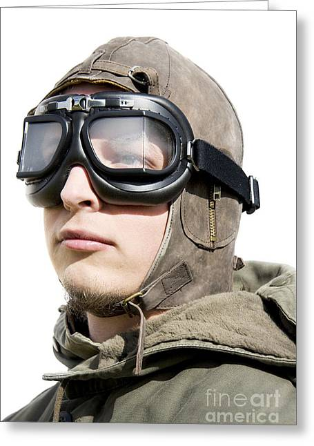 Pilots Portrait Greeting Card by Jorgo Photography - Wall Art Gallery