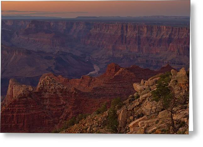 Greeting Card featuring the photograph Pima Point Sunset by Stephen  Vecchiotti