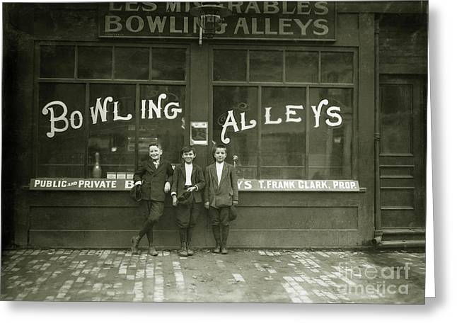 Pin Boys 1915 Greeting Card