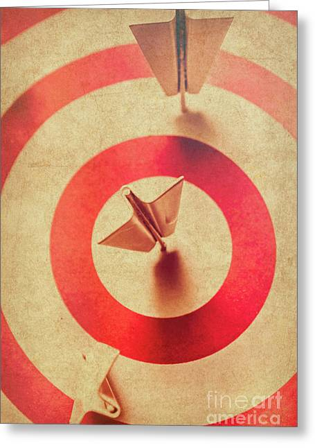 Pin Plane Darts Hitting Goals Greeting Card by Jorgo Photography - Wall Art Gallery