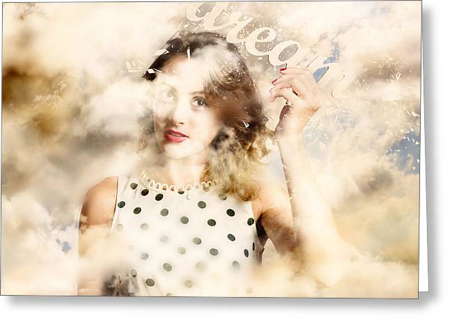 Greeting Card featuring the photograph Pin-up Your Dreams by Jorgo Photography - Wall Art Gallery