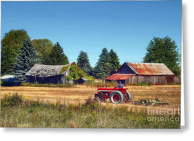 Pinconning Farm Greeting Card by Jeff Holbrook