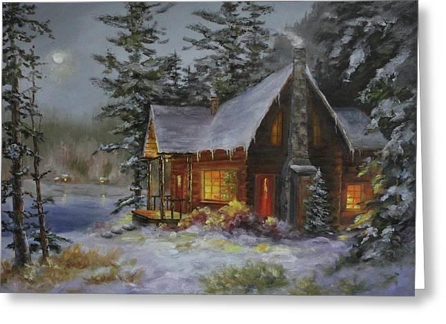 Pine Cove Cabin Greeting Card