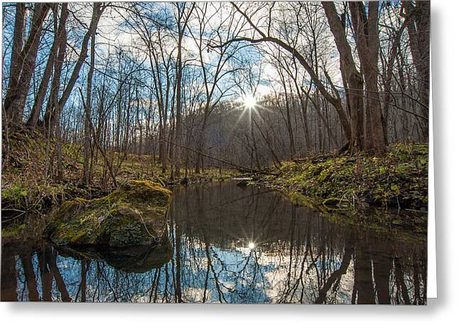 Greeting Card featuring the photograph Pine Creek by Dan Traun