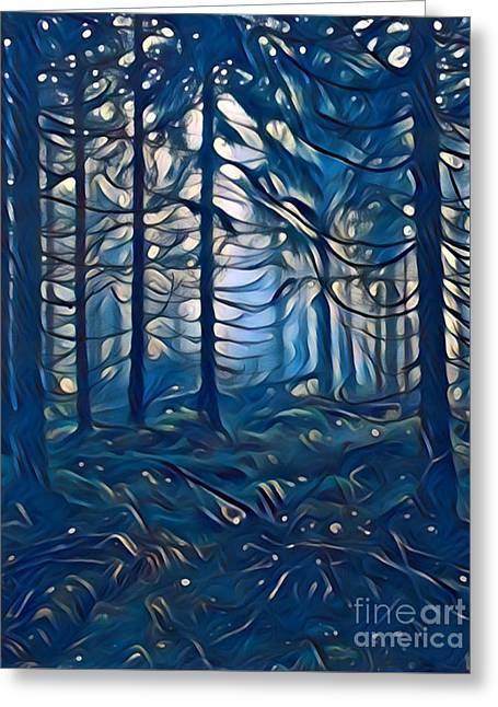 Pine Forest Fresh Rain Greeting Card