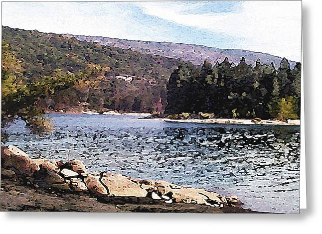Pine Point Bass Lake Larry Darnell Greeting Card by Larry Darnell