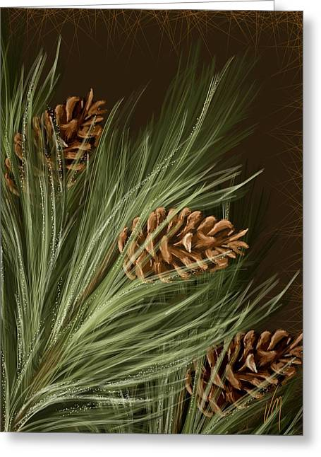 Pine Greeting Card by Veronica Minozzi