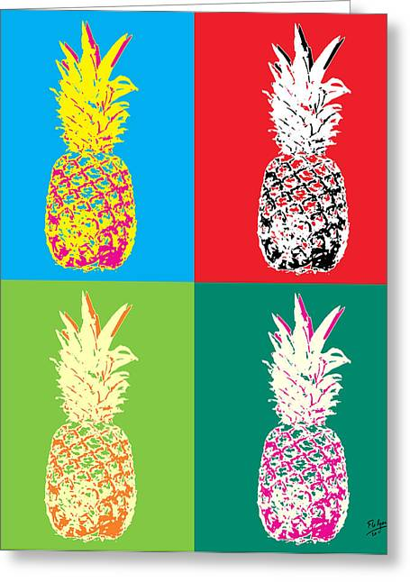 Pineapple 33 Greeting Card by Flo Ryan