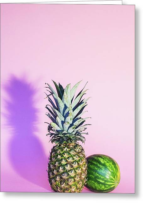 Pineapple And Watermelon Greeting Card by Happy Home Artistry
