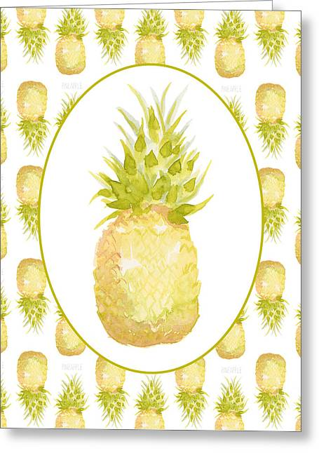 Pineapple Cameo Greeting Card