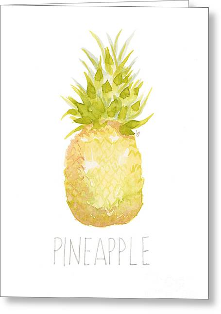 Pineapple Greeting Card by Cindy Garber Iverson