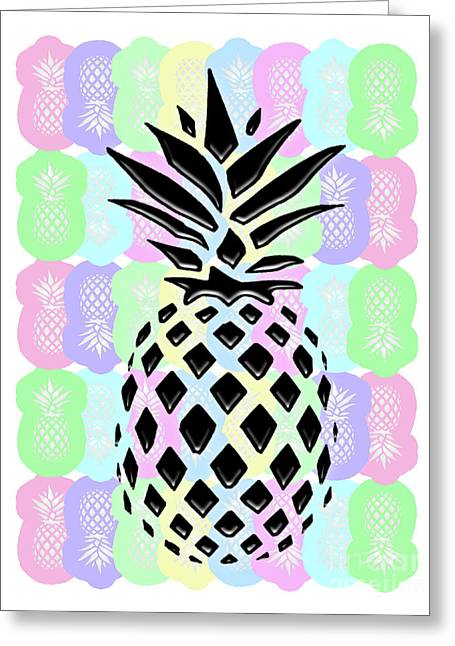 Pineapple Collage Greeting Card