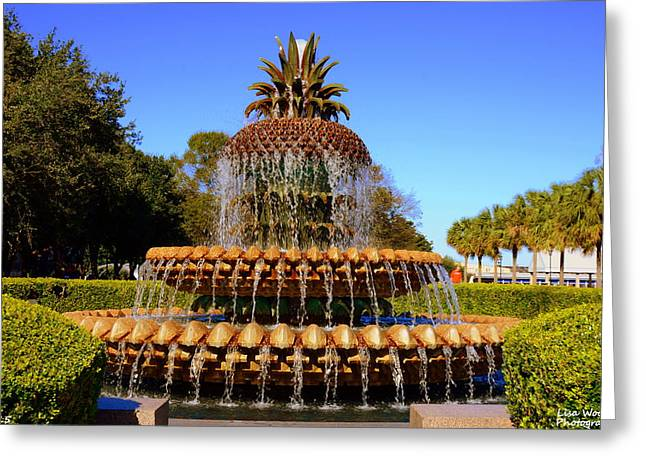 Pineapple Fountain Charleston Sc Greeting Card