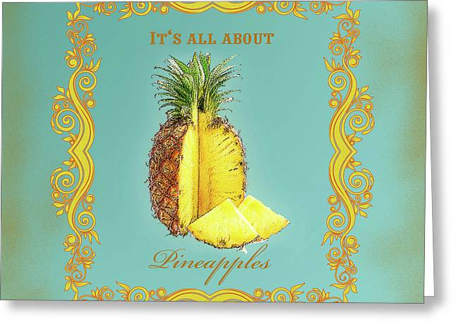 Pineapple Greeting Card by Graphicsite Luzern