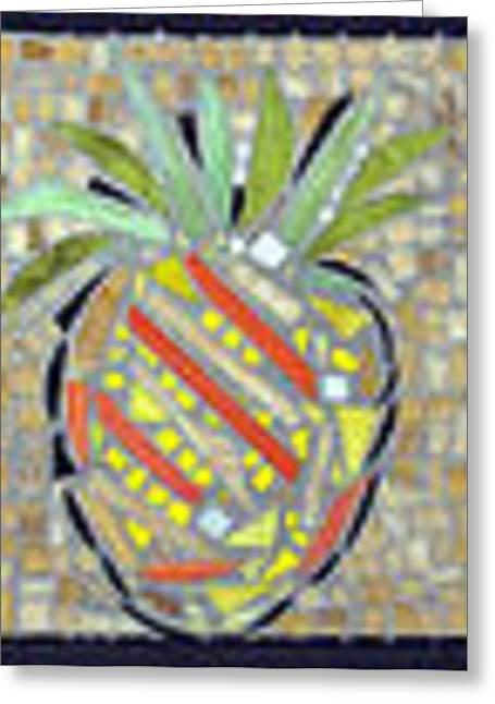 Pineapple I Greeting Card by Diane Morizio