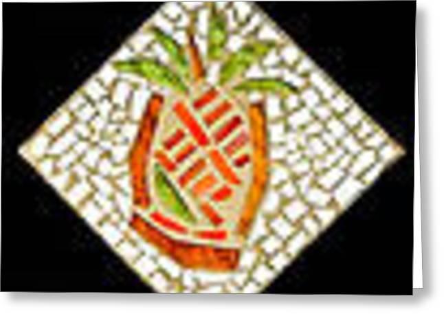 Pineapple II Greeting Card by Diane Morizio