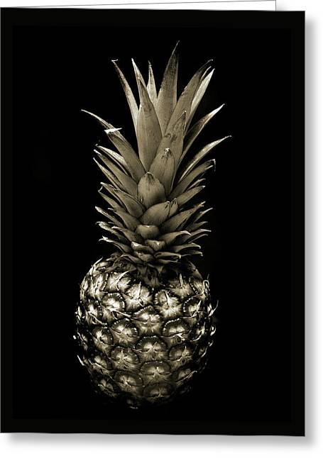 Pineapple In Sepia. Greeting Card