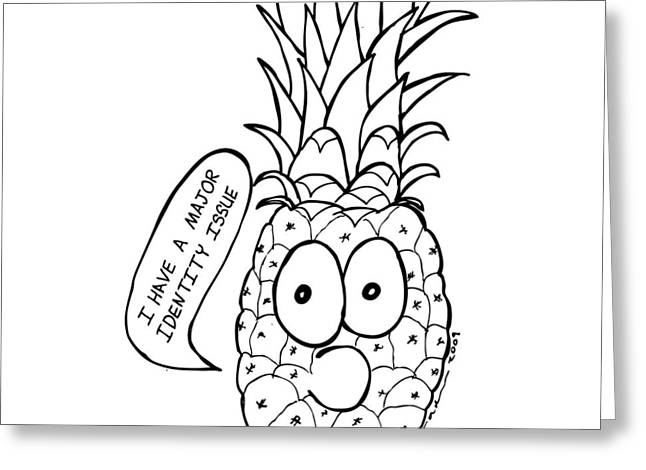 Pineapple Issue Greeting Card by Karl Addison