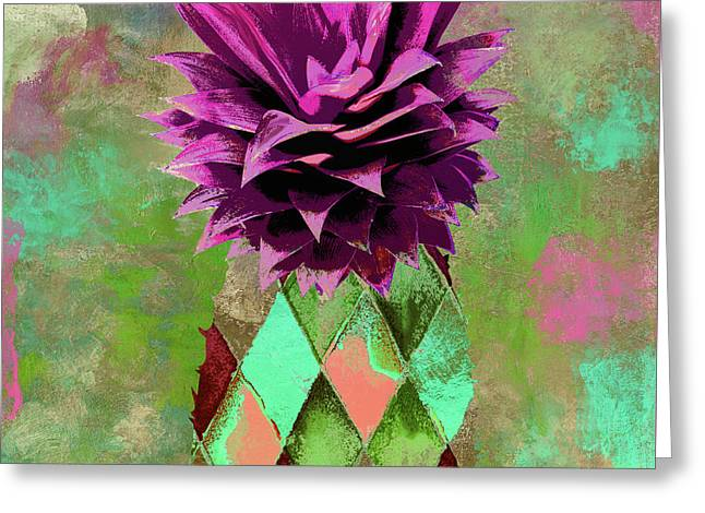 Pineapple Juice II Greeting Card by Mindy Sommers