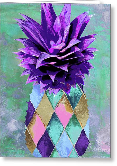 Pineapple Juice Greeting Card by Mindy Sommers