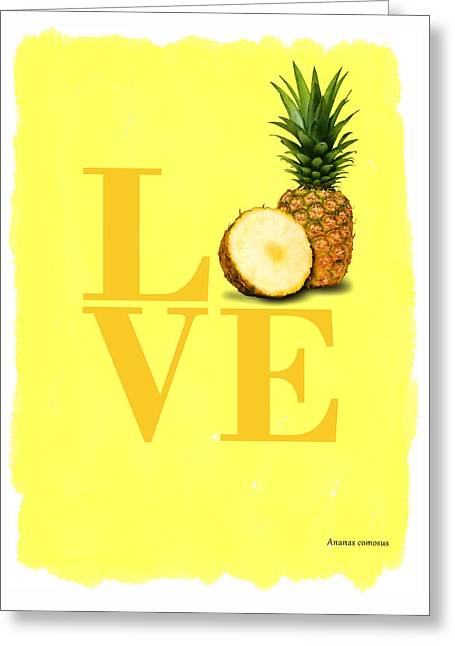 Pineapple Greeting Card by Mark Rogan