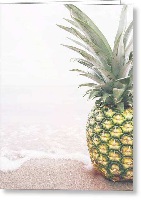 Pineapple On The Beach Greeting Card