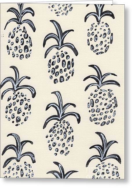 Pineapple Print Greeting Card by Anne Seay