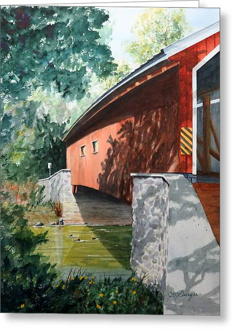 Pinetown Bridge Greeting Card by Joseph Burger