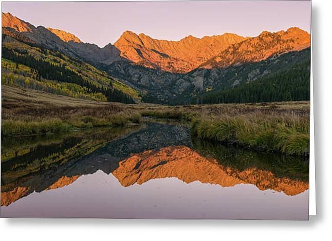 Greeting Card featuring the photograph Piney River Panorama by Aaron Spong