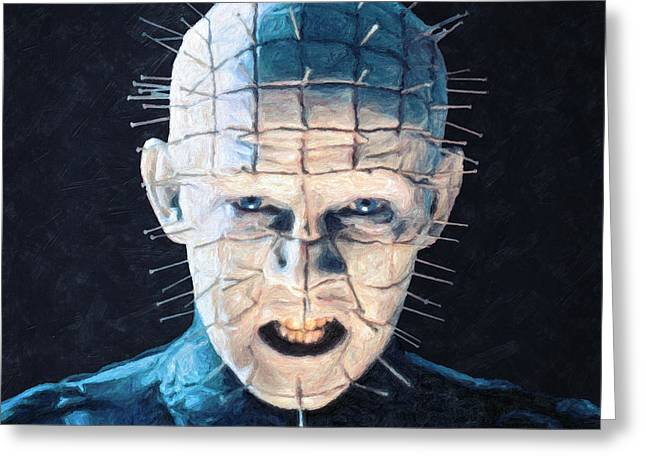 Pinhead Greeting Card by Taylan Apukovska