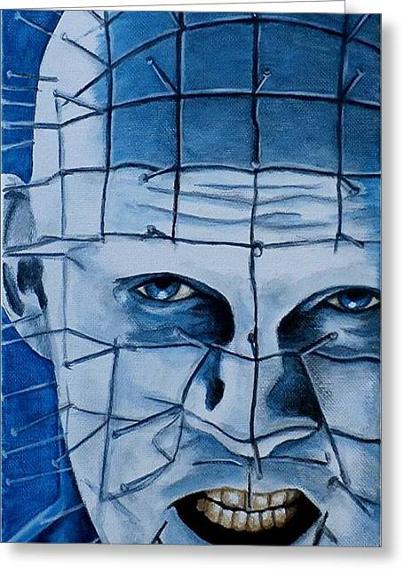 Pinhead Up Close And Personal  Greeting Card