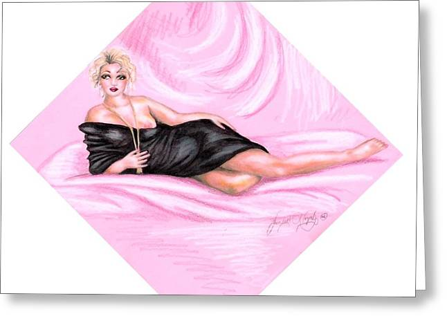 Pink Allure Greeting Card by Scarlett Royal