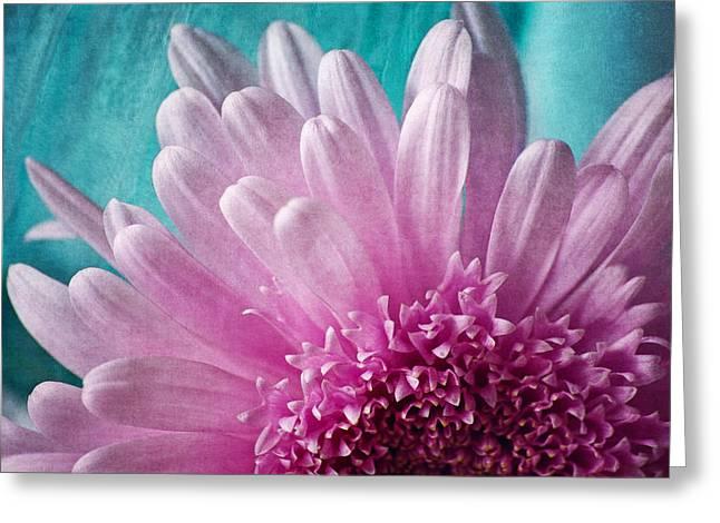 Pink And Aqua Greeting Card by Dale Kincaid