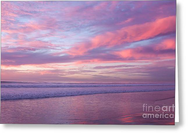Pink And Lavender Sunset Greeting Card