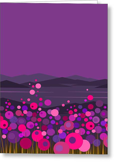 Pink And Purple Flowers II Greeting Card