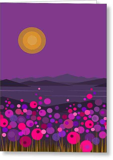 Pink And Purple Flowers Greeting Card
