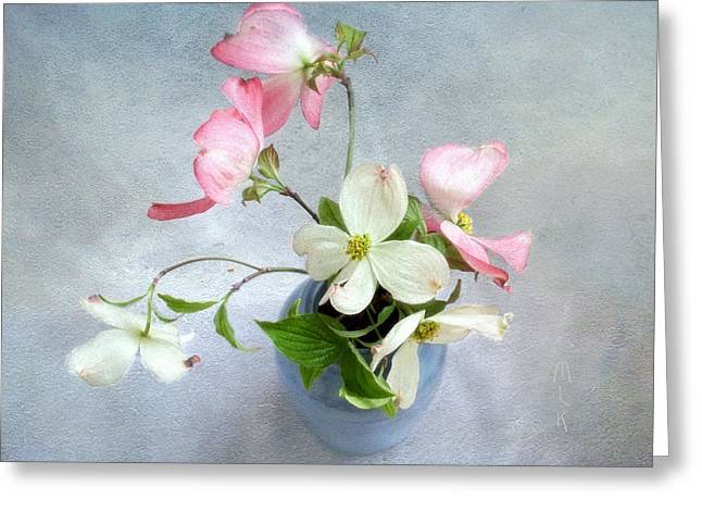 Pink And White Dogwood Still Greeting Card