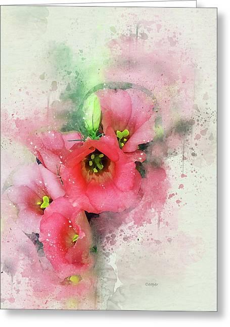 Pink Babies-2-sig.jpg Greeting Card