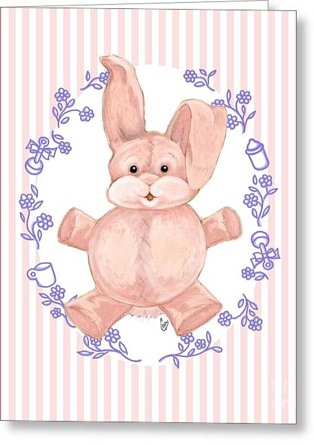 Pink Baby Bunny Greeting Card