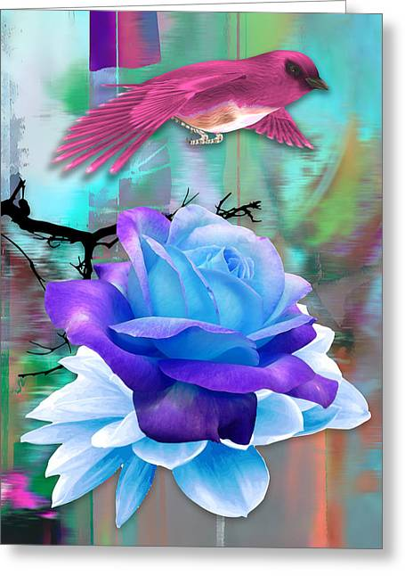 Pink Birds Flight Greeting Card