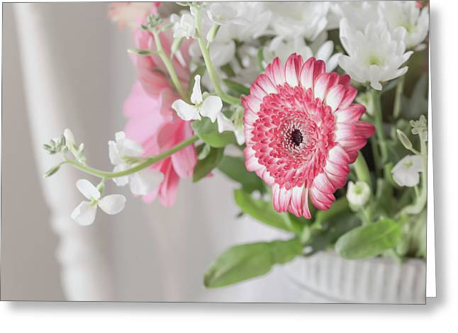 Greeting Card featuring the photograph Pink Blooms Love by Kim Hojnacki