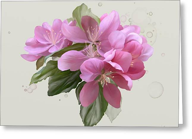 Pink Blossoms Greeting Card by Ivana Westin