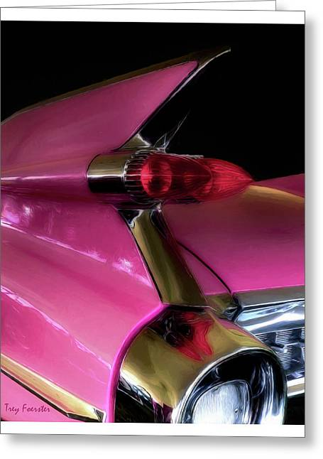 Pink Cadillac Greeting Card by Trey Foerster
