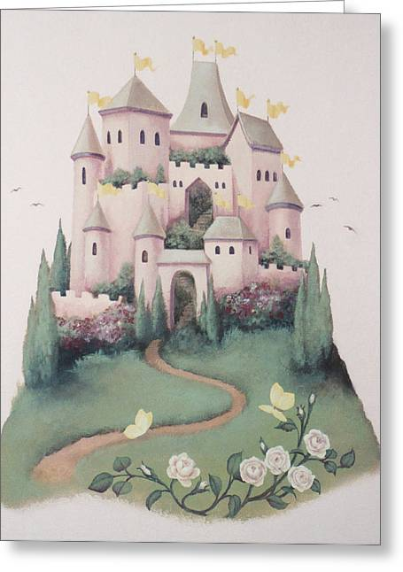 Pink Castle Greeting Card