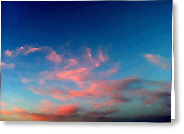 Pink Clouds Abstract Greeting Card