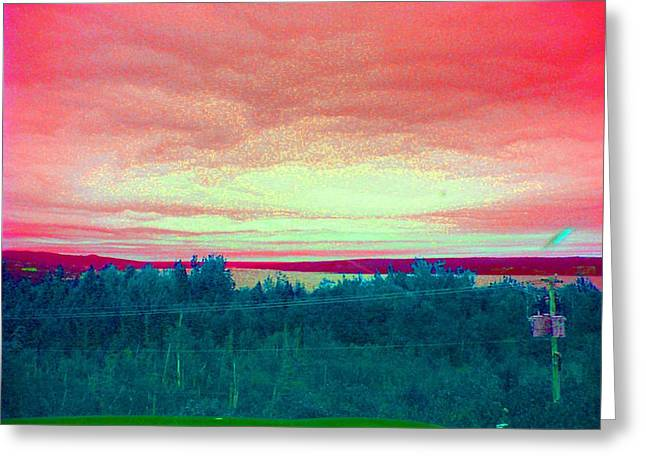 Pink Clouds Greeting Card by Allison Prior